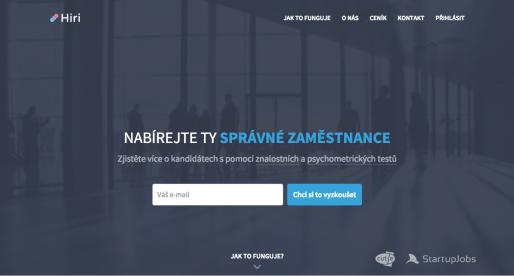 StartupJobs a Cut-e spouštějí novou službu Hiri.cz