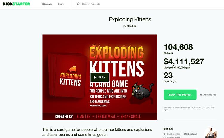 Jak za hodinu prodat na Kickstarteru za 2,5 milionu korun a během týdne za 100 milionů