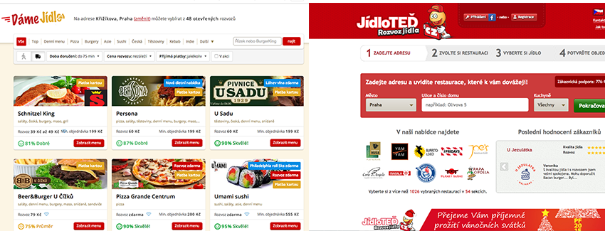 Skupina Delivery Hero kupuje Damejidlo.cz i Jidloted.cz za stovky milionů korun!