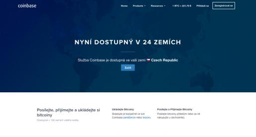 Bitcoinový marketplace Coinbase se dnes konečně dostal i do ČR!