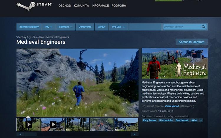 Čeští Keen Software House válcují Steam
