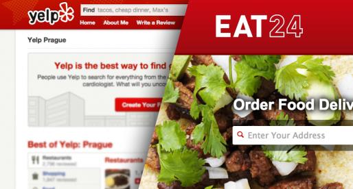 Yelp kupuje portál Eat24 pro rozvoz jídel za cenu 3,27 miliard korun