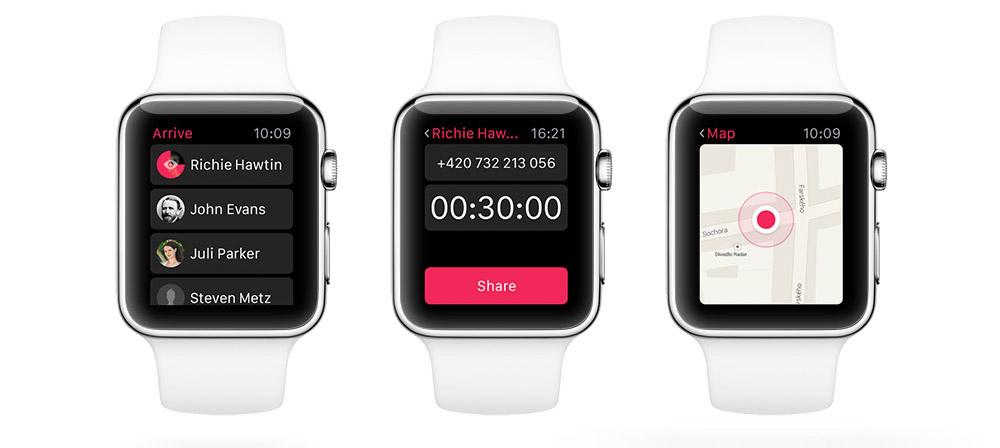 Nová česká Apple Watch aplikace Arrive nasdílí vaši privátní polohu