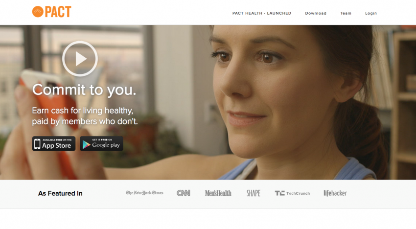 Mobilní appka Pact vám dává peníze za dodržování zdravého životního stylu