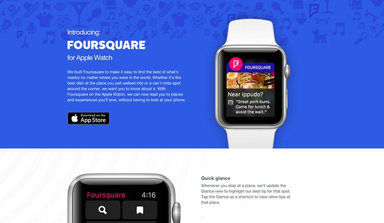 Foursquare pro Apple Watch je tady. Podívejte se, jak vypadá