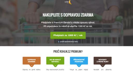 Rohlik.cz spouští novou službu Rohlik Premium. Co nabídne?