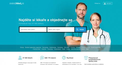 Tvůrci portálu ZnamyLekar.cz získali investici ve výši 246,6 milionů korun