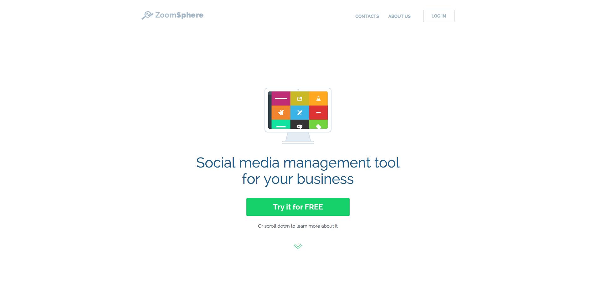 Náhled homepage ZoomSphere