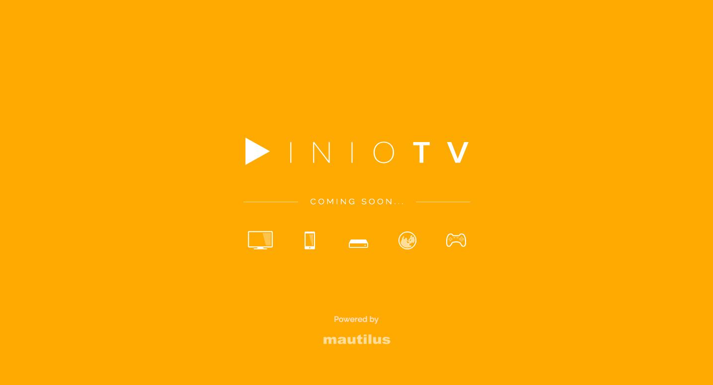 Aktuální landing page INIOTV