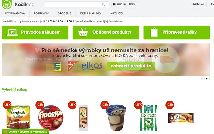 Internetový supermarket Košík.cz oficiálně spuštěn