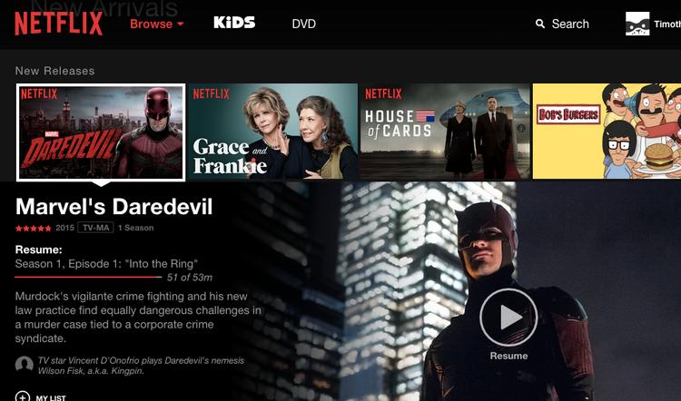 Netflix potají testuje nový design pro webové rozhraní