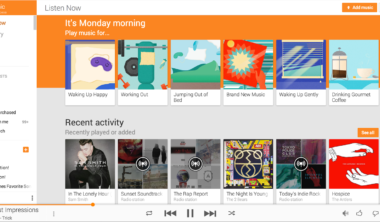 Play Music – new recommendations – Web