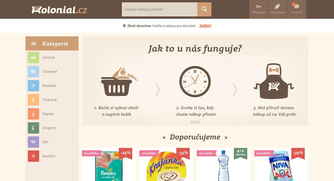Kolonial homepage…