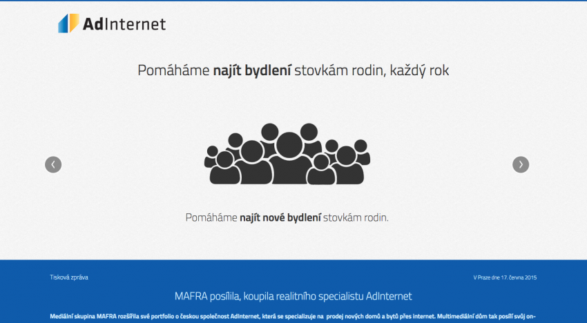 Mafra s Andrejem Babišem v čele opět nakupovala, tentokrát online prodejce realit