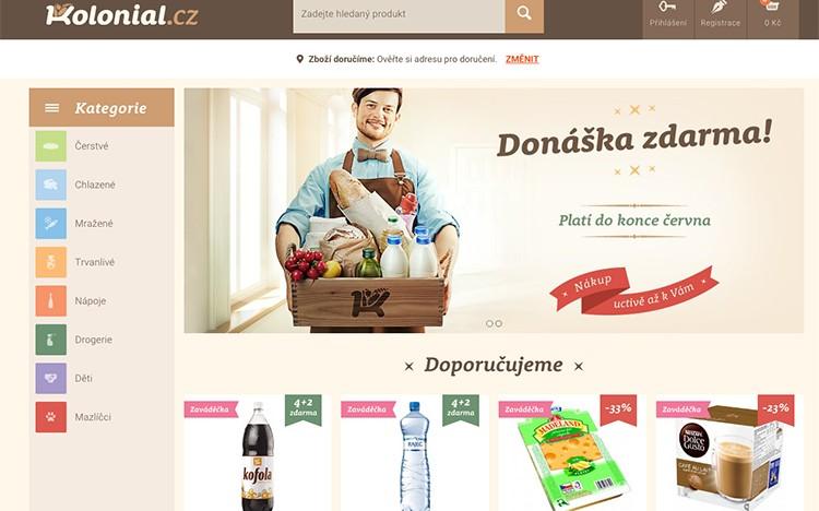 Rockaway dnes oficiálně spustilo Kolonial.cz