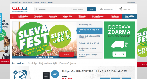 Český internetový obchod CZC se po první polovině roku přehoupl přes 1 miliardu korun