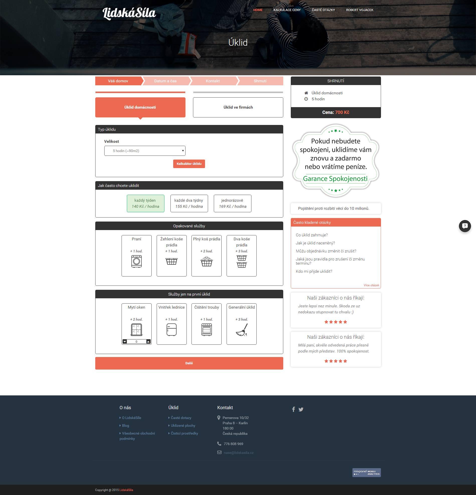 Nový design objednávkového procesu