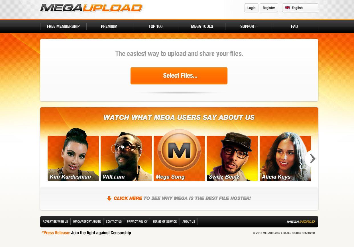 Poslední podoba Megaupload.com