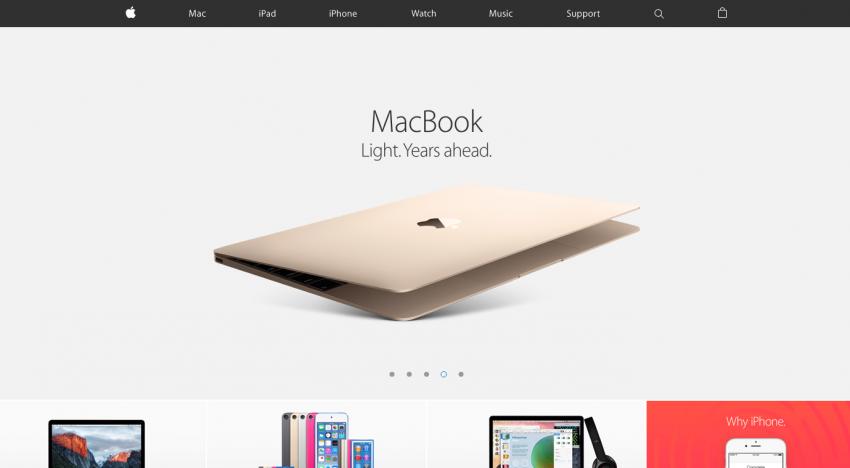 Apple spustil nový design webu a zcela odstranil původní nákupní proces