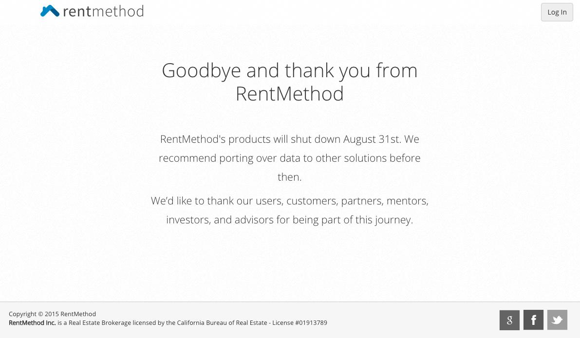 Zpráva, která je k dispozici na webu RentMethod