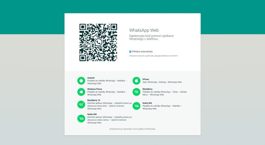 Chatovací aplikace WhatsApp konečně dostupná i na PC pro všechny platformy. A to bez instalace!