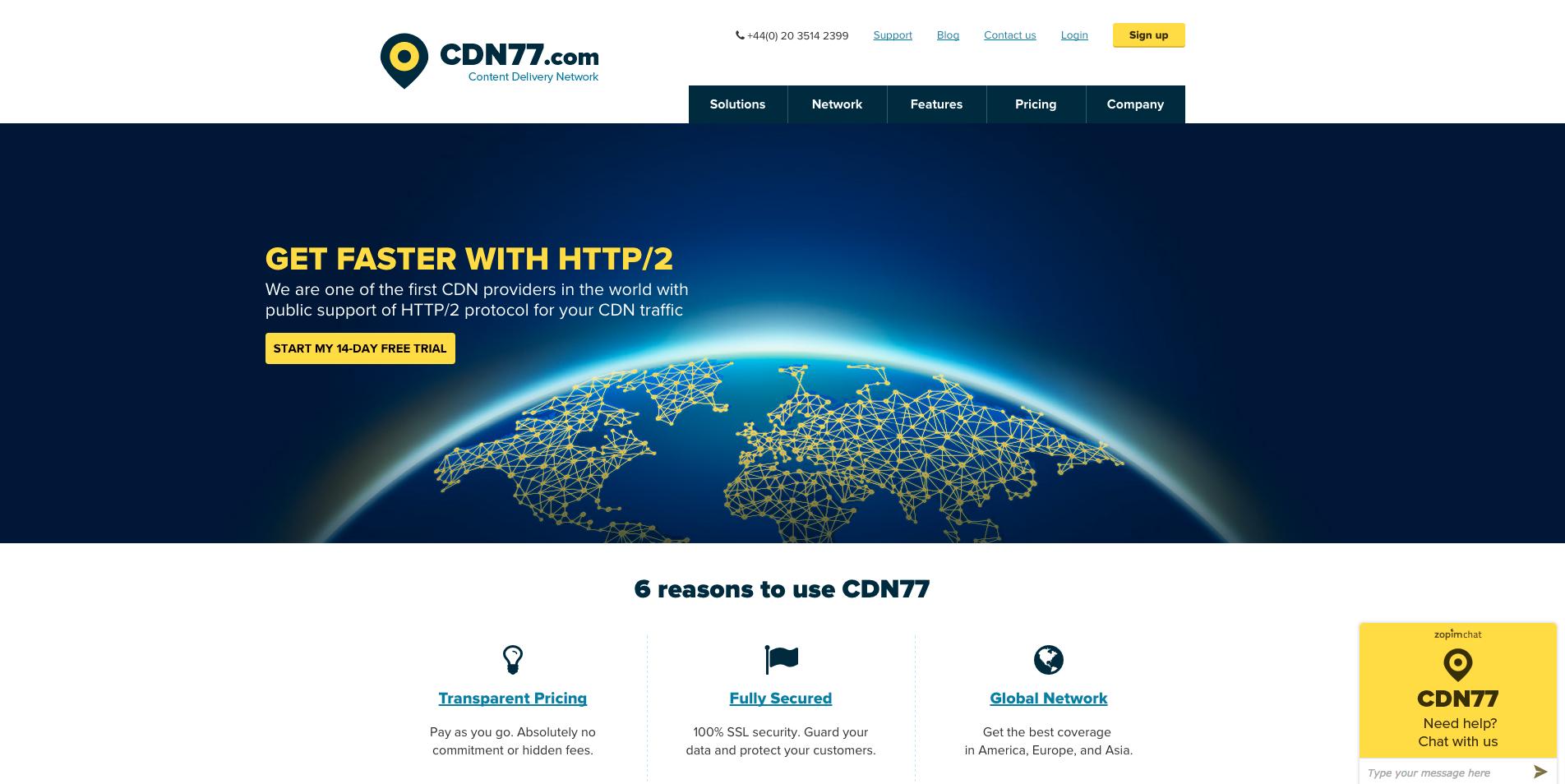 Hlavní strana CDN77.com