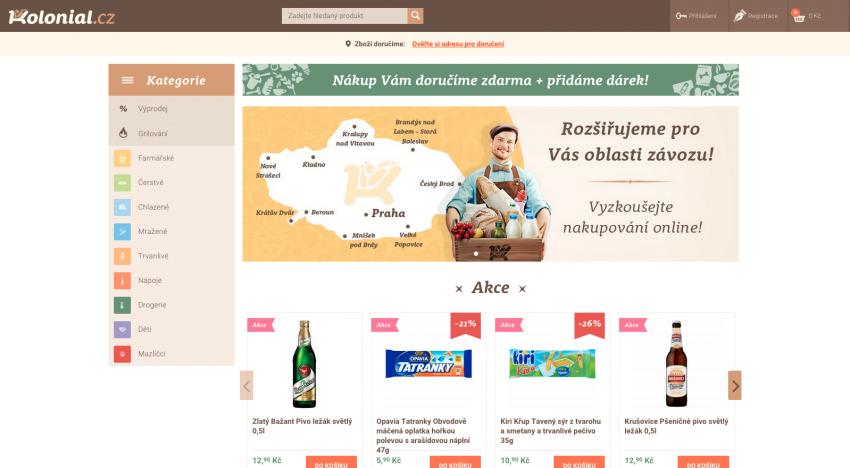 Rozvozce potravin Kolonial.cz expanduje mimo Prahu a rozšiřuje sortiment
