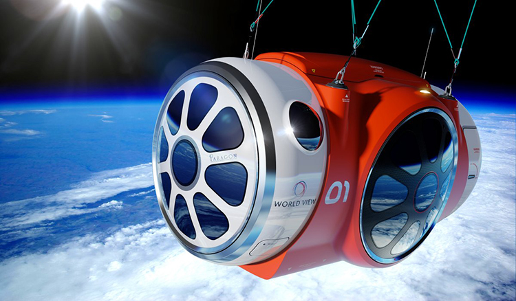 Tenhle revoluční balón vás už příští rok za 1,7 milionů Kč vynese do vesmíru