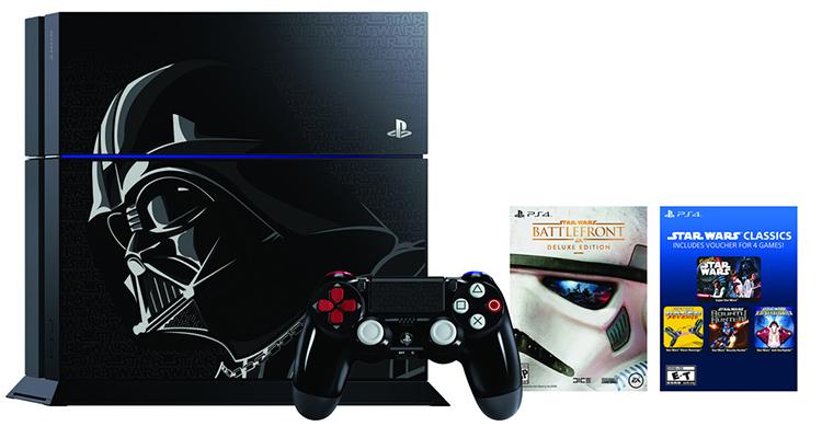 Sony Playstation 4 vyjde ve speciální Star Wars Darth Vader edici!