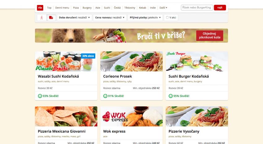 Česká jednička v rozvozu jídel zpracuje objednávku každé 3,4 sekundy. Ovládá 75% trhu