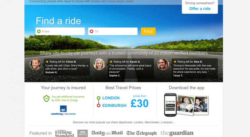 Platforma na sdílení jízdy BlaBlaCar získala 160 milionů dolarů a připojila se do miliardového klubu