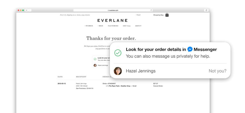 Ukázka integrace Messenger Business