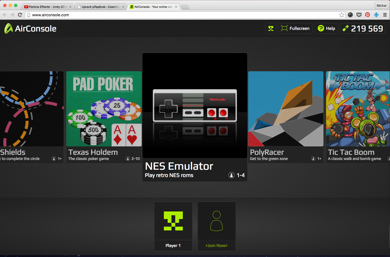 K dispozici je i NES emulátor