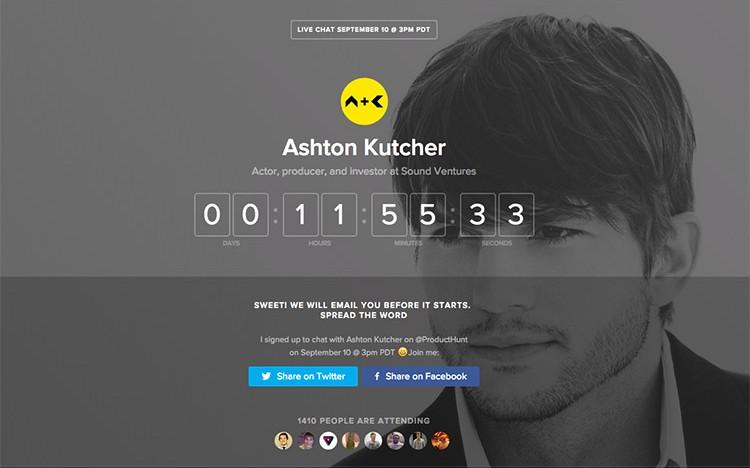 Herec a investor Ashton Kutcher dnes bude živě radit startupům. Položit otázku mu můžete i vy