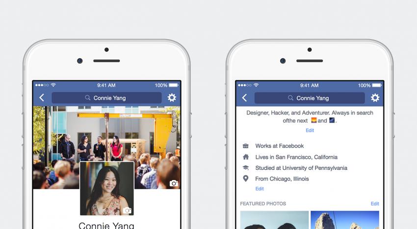 Profily na Facebooku se dočkaly nejzásadnějšího redesignu a rozšíření za několik posledních let