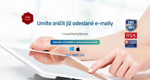 Nadějný český startup dokáže mimo jiné jako jediný zničit již odeslaný email