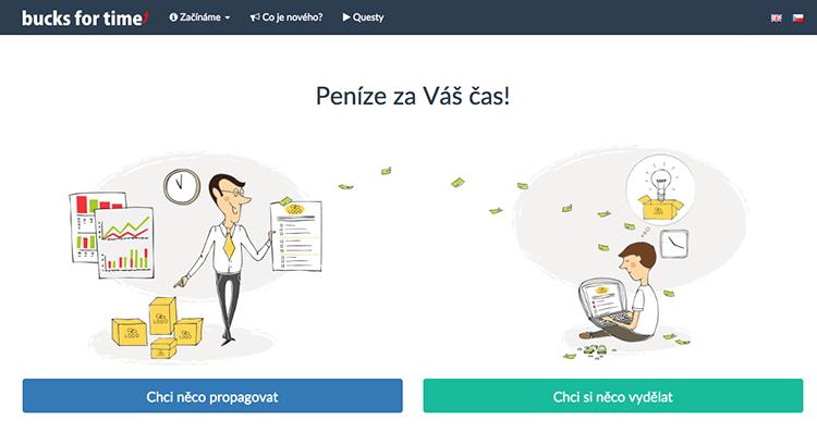 BucksForTime: nový český projekt, který vám umožní vytvářet placené dotazníky