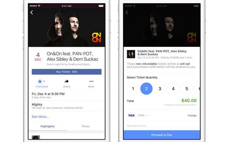 Facebook spouští funkci, díky které si jednoduše koupíte lístky na koncert