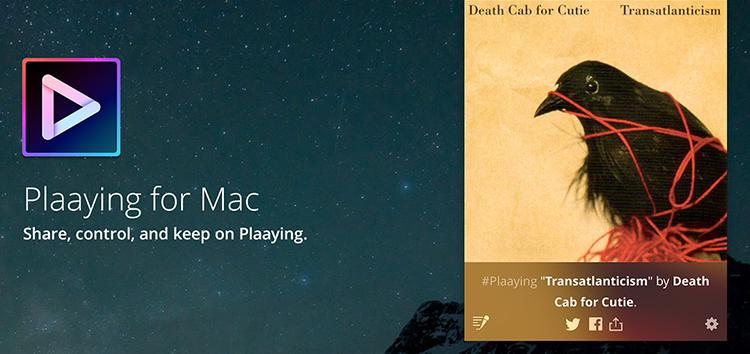 Plaaying: aplikace pro Mac, která vám umožní ovládat Spotify a Apple Music přímo z menu baru