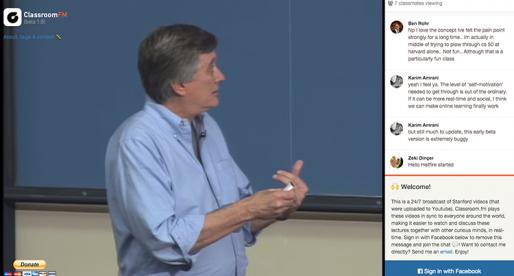 Classroom.fm: aneb sledujte s ostatními nonstop přednášky ze Stanfordu