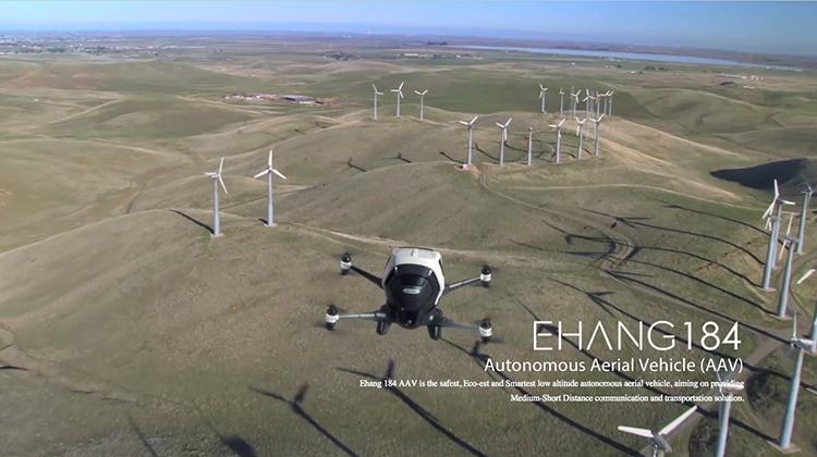Ehang 184: autonomní dron, který vás přepraví do libovolné destinace