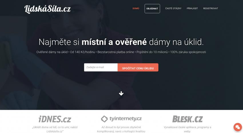 Úklidový startup LidskaSila.cz má novou aplikaci, investora a valuaci 80 milionů korun