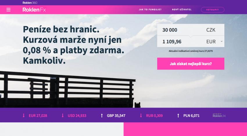 Pražská finanční skupina Roklen přichází s revolučním nástrojem pro směnu devíz