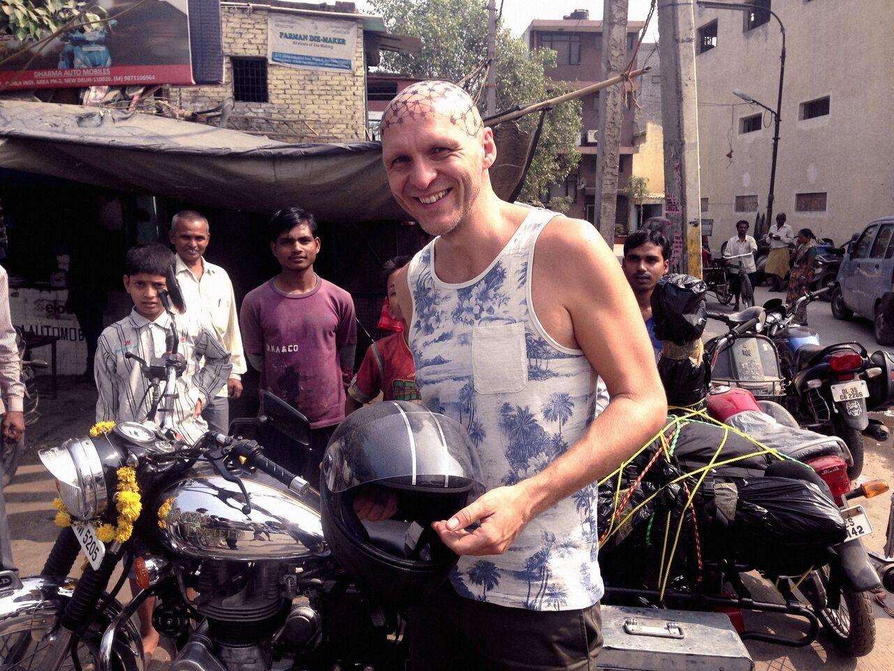 Jan Strmiska na své cestě po Indii