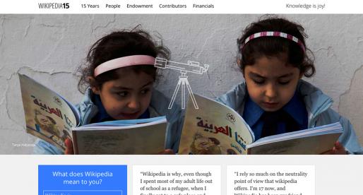 Wikipedia oslavuje 15 let existence a chce od uživatelů vybrat přes 100 milionů dolarů