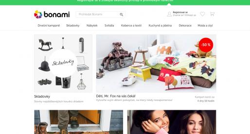 E-shop s bytovými doplňky Bonami.cz překročil za minulý rok v tržbách 260 milionů korun