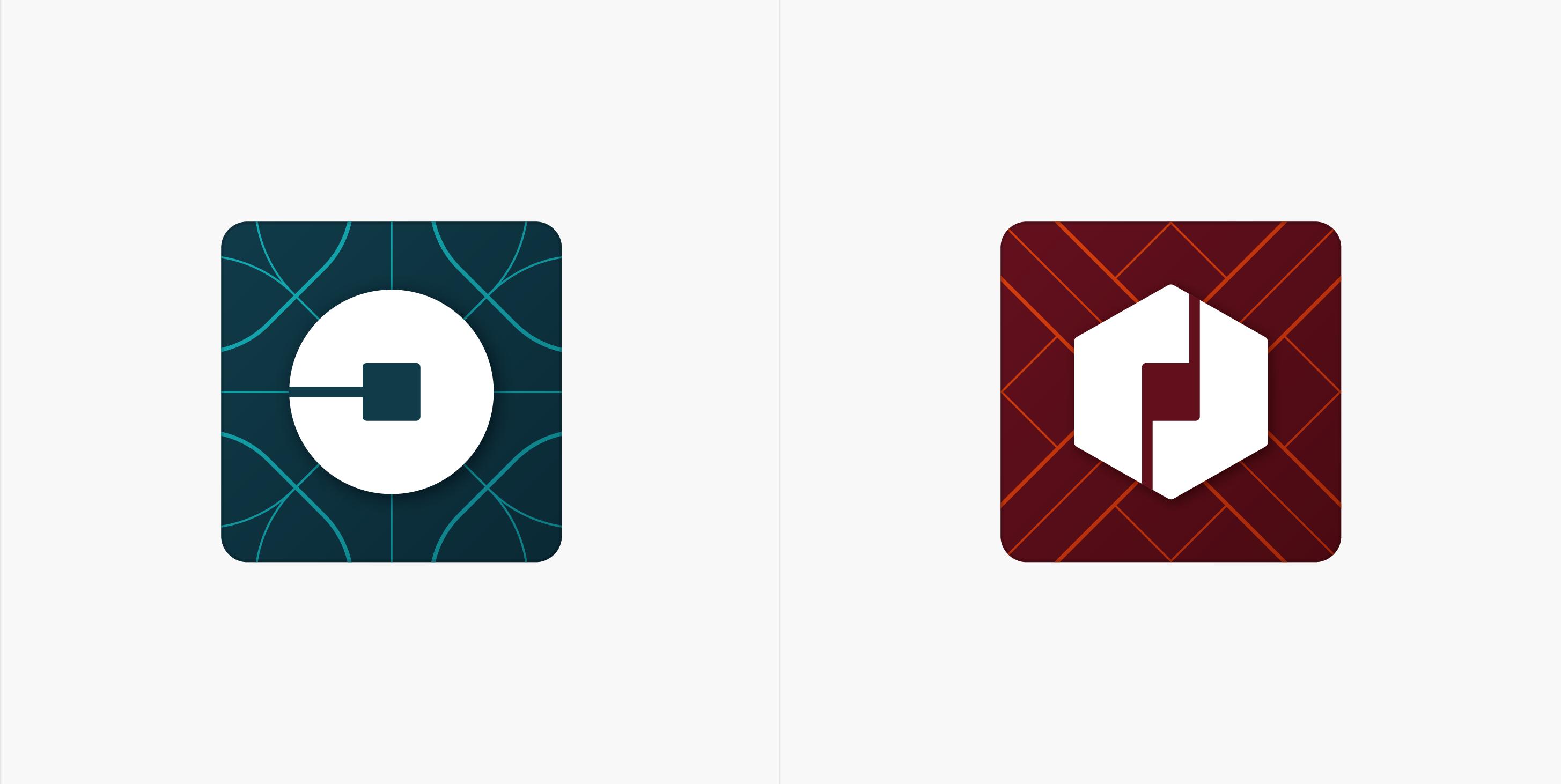 Nové ikony mobilní aplikace pro zákazníky a pro řidiče