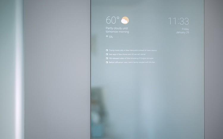 Inženýr z Googlu si pro sebe sestrojil vlastní chytré zrcadlo