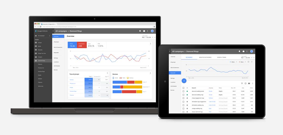 Google kompletně redesignoval po 8 letech svoji reklamní platformu Google AdWords