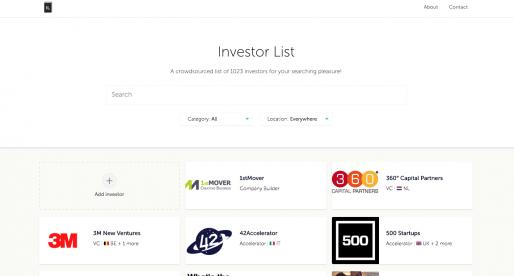 Investorlist.co: projekt s rostoucím seznamem světových investorů, včetně těch českých